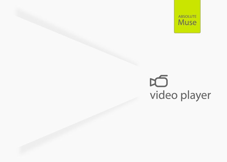 The Absolute Muse Video Player is a powerful widget that allow users to add videos to Muse websites.