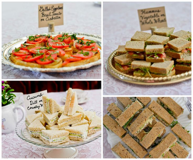 Tea Party Sandwiches for the baby shower would be ideal.  Cheap quick and easy.