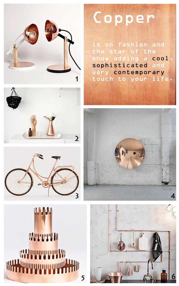Copper mood board - Blog Esprit Design -