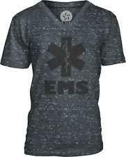 EMS (Black) Mens V-Neck T-Shirt