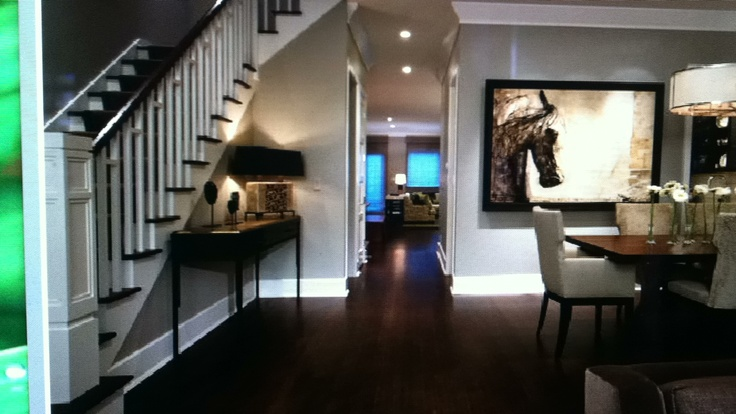 Dark floors vs light taupe wall color. LOVE. | For the