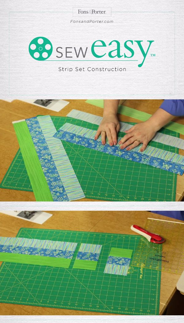 Sewing strip sets is a something every quilter can master! If you've been struggling to get even strips, check out these tips from Sew Easy >>