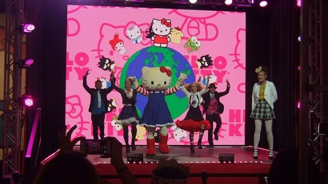 #HelloKittyCon2014   #HelloKitty  Get Hello Kitty at  http://toystoresale.com/page/2/?s=kitty  |  At the world's first Hello Kitty convention in Los Angeles , a largely female crowd – which ranged from pre-schoolers to professionals to retirees, many wearing outsized red bows in their hair just like Kitty – huddled around booths selling an array of collectibles, from US$5 (S$6.40) key chains to US$450 make-up brush sets. -- ALISON DE SOUZA