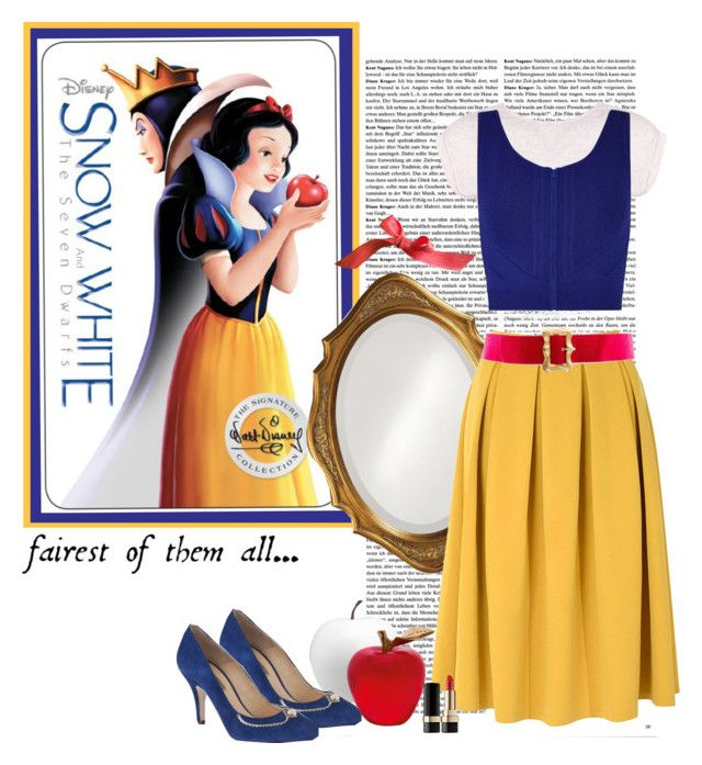 Snow White by polybaby on Polyvore featuring Ohne Titel, Miss Selfridge, Glamorous, Chanel, Dolce&Gabbana, Howard Elliott, Daum, CB2, women's clothing and women's fashion