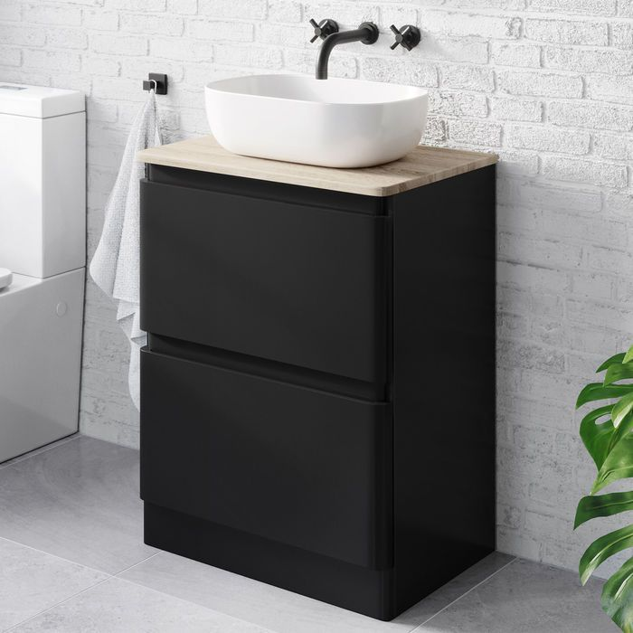 600mm Black Vanity Unit Denver Black Sink Vanity Soak Com