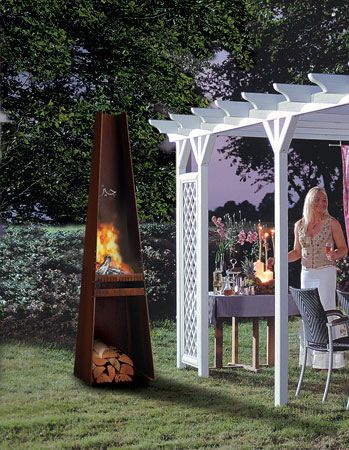 Danish Outdoor Fireplace