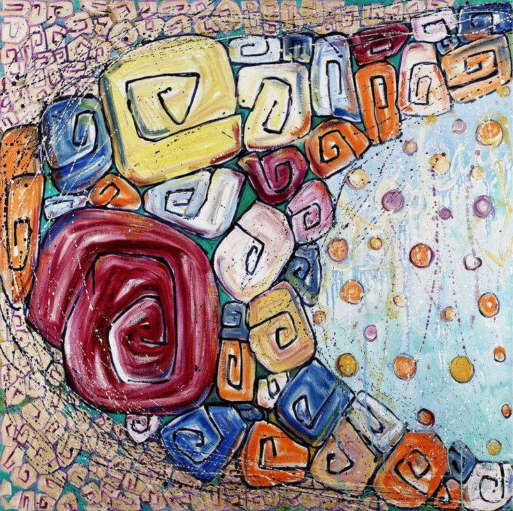 """Salome Hidalgo, """"Tryptyk Gitanas VIII"""", year: 2009, 95 cm x 95 cm, I"""