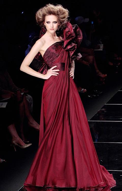 Blood burgundy color dresses