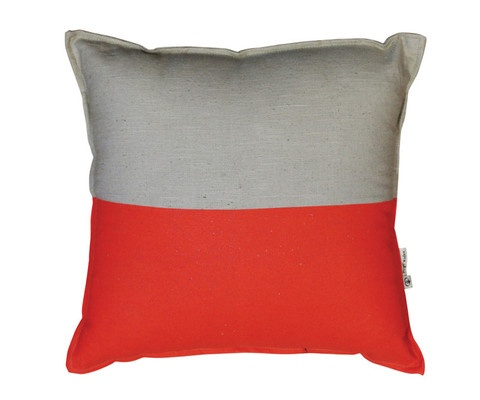 Pony Rider - Blocked Cushion Cover - Flouro Orange