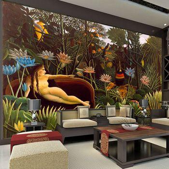 O Sonho Murais De Parede Rousseau Pintura Papel De Parede