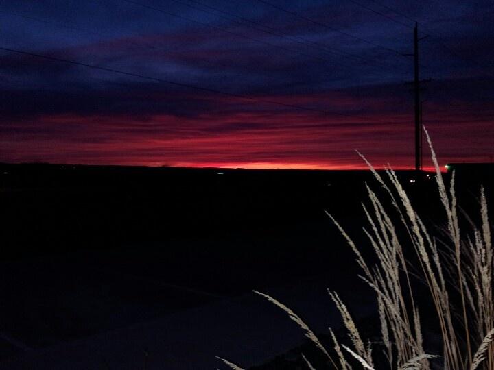 Walla Walla, WA sunset.  Beautiful