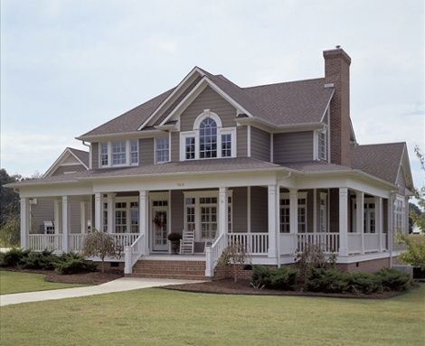 Perfect love the porch all the way around the house and for House plans with porch all the way around