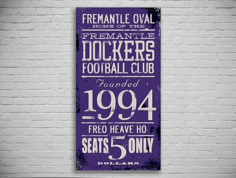 Fremantle Dockers Turnstyle Canvas Print - The Turnstyle Print Company