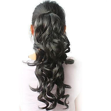 High Quality Synthetic 16.94 Curly Black Ponytail