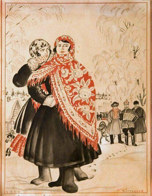 Boris Kustodiev slavic illustration