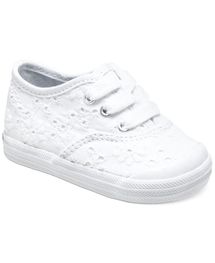 Keds Baby Girls' Champion Embroidered Toecap Shoes | macys.com