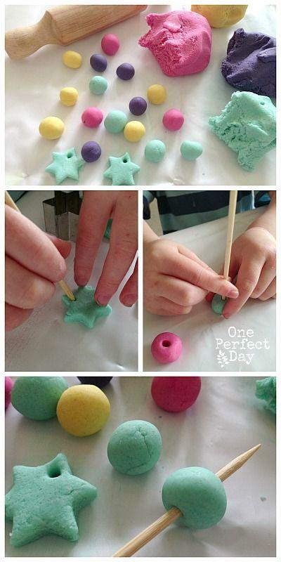 How to make salt dough beads