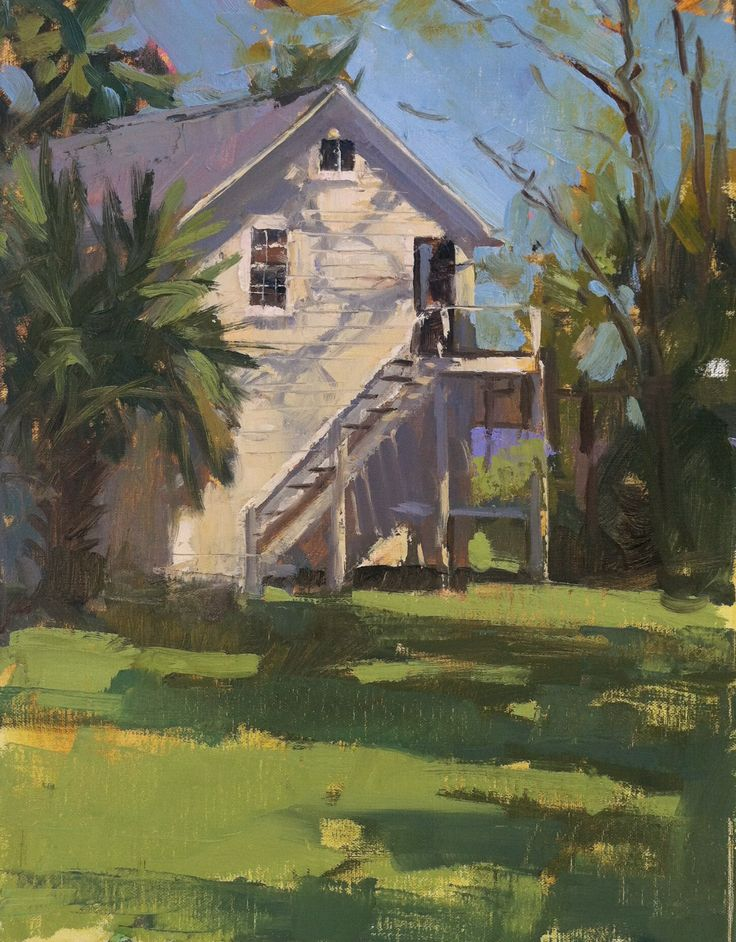 """Love Shack"" 14"" x 11"", Private Collection Cottage on Indian Pass Beach (Bayside) in Florida's Forgotten Coast"