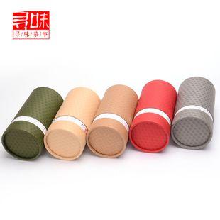 La protection de l'environnement général de papier kraft de Taïwan de thé pot fruits secs produits papier boîte ronde d'arbres 滇红茶 thé thé en vrac