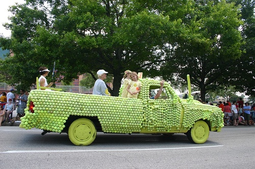 The tires aren't the only thing you'll have to worry about going flat with this vehicle... Hope those are pressureless tennis balls!