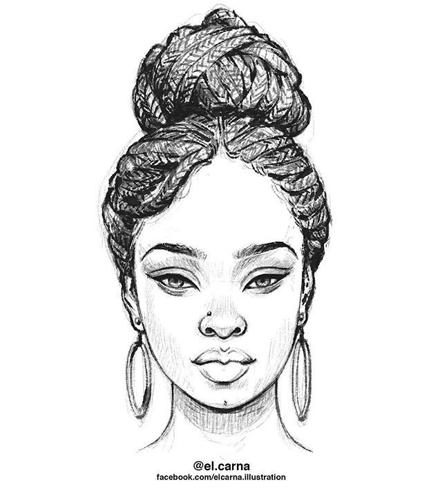 Shut of day sketch… BRAIDS #elcarnastudios #keepgoing