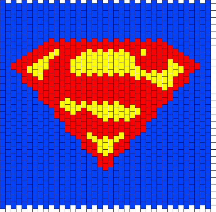 Superman Backpack Bead Pattern
