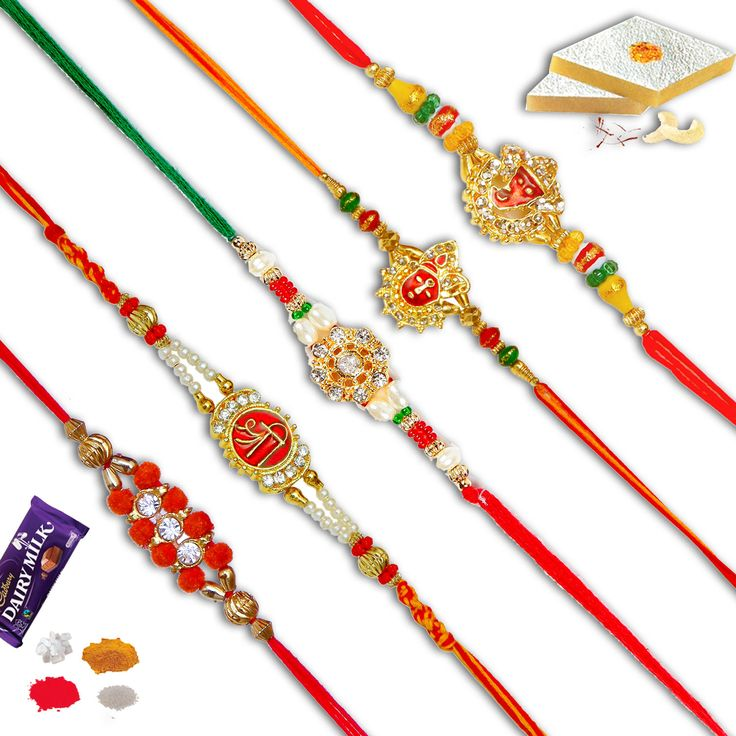 Set of five rakhi.combo of five different rakhis. #Rakhi #Gifts#Rakhiset #SendRakhi#OnlineRakhi#freeshipping#rakhitoindia#beadrakhi#auspiciousrakhi