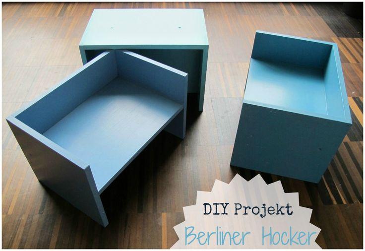 kleinstyle DIY Projekt Berliner Hocker Collage 07 text Selbstgemacht Kinderzimmer Hocker, Regal, Spielutensil