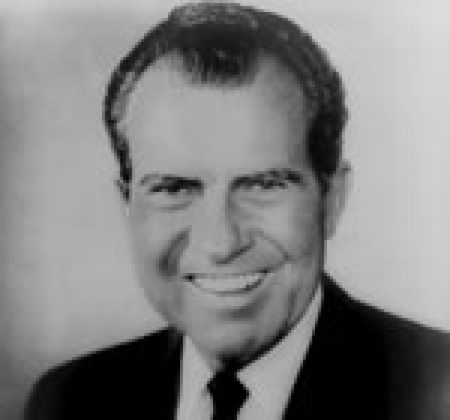 Richard Nixon, 37th President of the United States.    Watergate