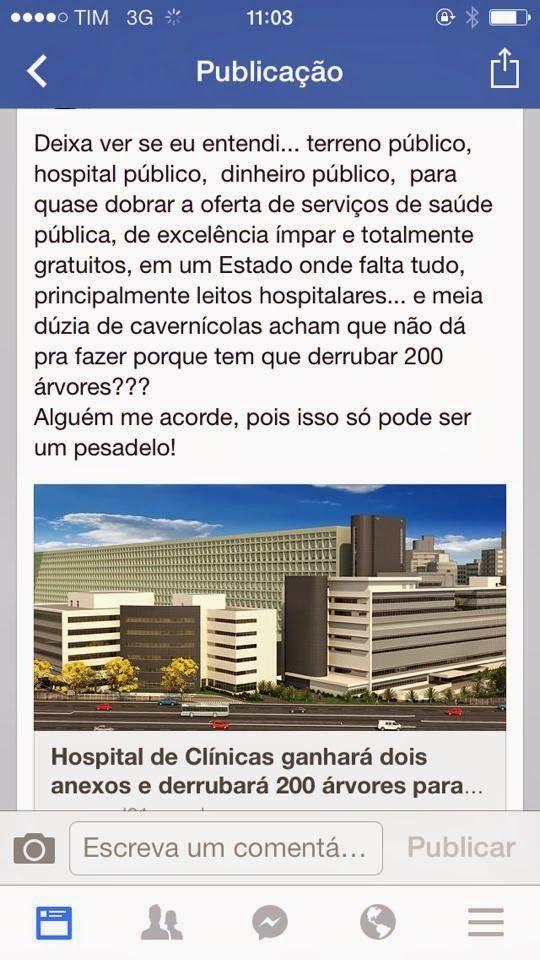 panorama: Porto Alegre amplia Hospital. Mas Destruira Nature...