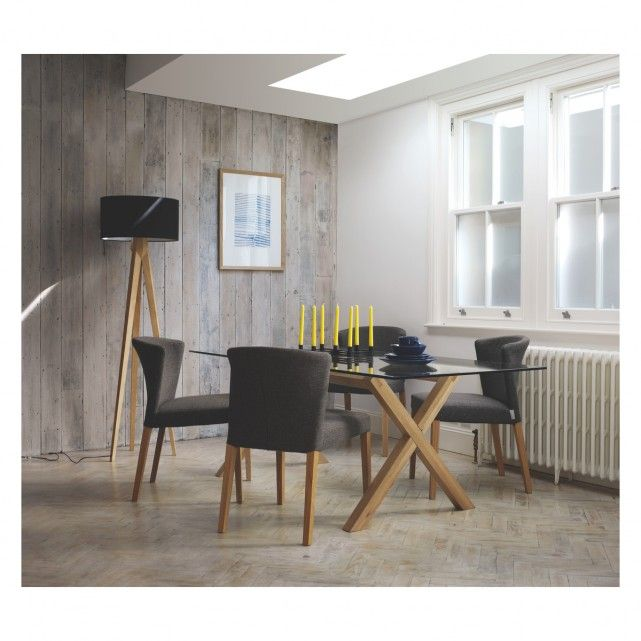 TRIPOD Ash wooden tripod floor lamp base | Buy now at Habitat UK