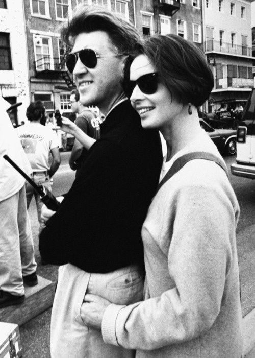 David Lynch and Isabella Rossellini, 1989 Love this photo, such a natural look.