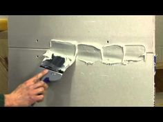 ▶ Finishing a Drywall Joint STEP 1 - YouTube ->1st step: mud and tape (factory joint) between sheets