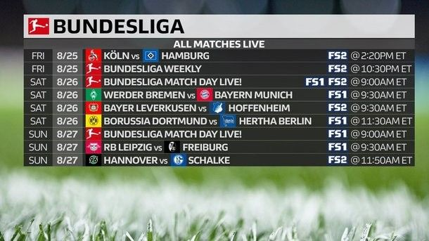 Championship of Germany: schedule and results of the 2nd tour, table of Bundesliga