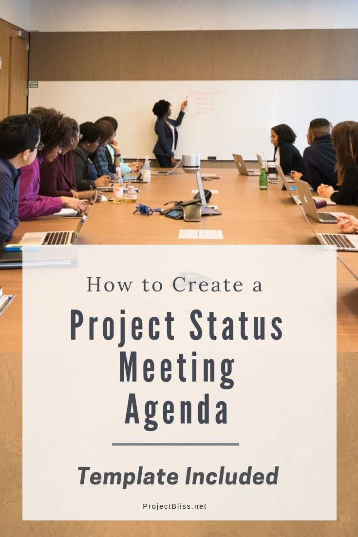 How To Create A Project Status Meeting Agenda Free Template