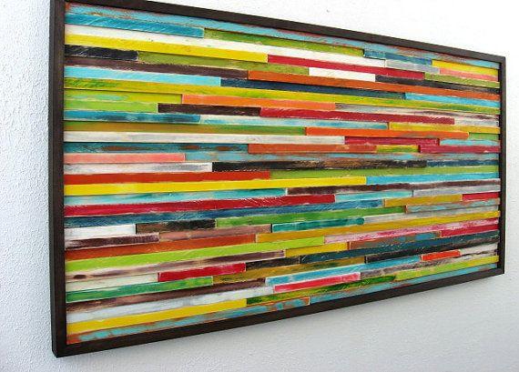Reclaimed Wood Art - Distressed Wood Wall Art