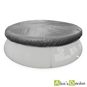 Bâche de protection grise Ø330cm pour piscine ronde hors sol Ø300cm, housse, couverture