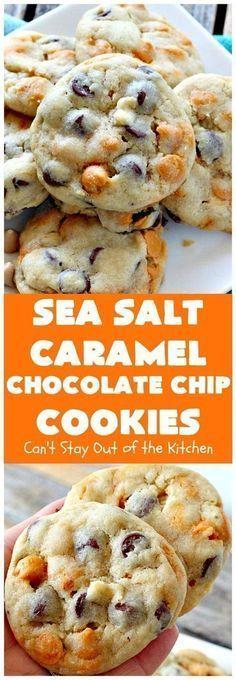 Sea Salt Caramel Chocolate Chip Cookies | Posted By: DebbieNet.com