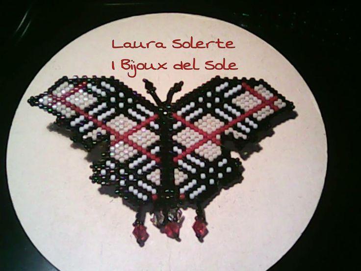 I Bijoux del Sole: Spilla Farfalla Burberry: realizzata con Miyuki e cristalli Swarovski