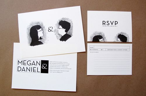 6a00e554ee8a2288330133ed6e4b85970b 500wi Megan + Daniels Quirky Black and White Invitations