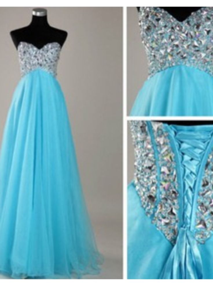 Pretty blue dresses for prom