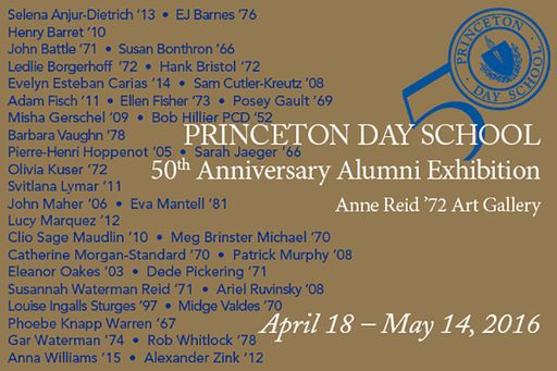 Princeton Day School Presents the 50th Anniversary Alumni Art Exhibition | Princeton Day School - News Post