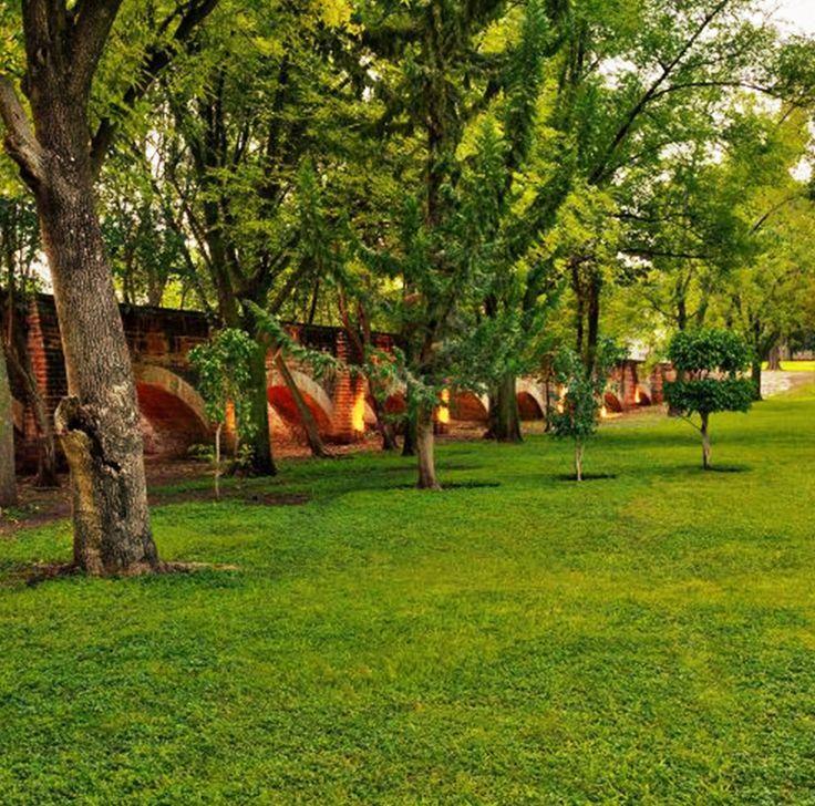 Al recorrer los jardines de #HaciendaJurica es descubrir el encanto de otra época. ¿Te gustaría visitarlo?   #architecture #instagood #picoftheday #photo #relax #nature