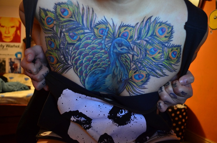 """""""finally, my chest piece it's over! this thing took like 5 sessions mainly cause I move to another country lol but I finally got it done by an argentinian tattoo artist, it was painful as fuck but it's over now and it looks fucking amazing! :D pure art I'll say <3"""""""