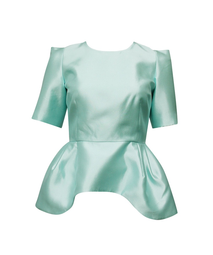 ELLERY  the imperials skirted shell top | SHOP NOW > http://www.threadbare.co/collections/ellery/products/the-imperials-skirted-shell-top #ellery #listerine #pastel #peplum #metallic #mint