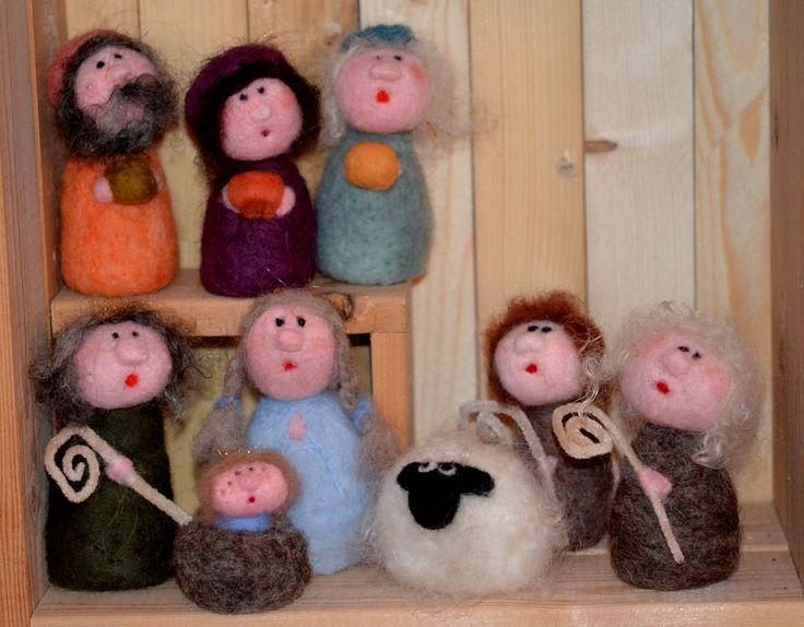 The Nativity - Needle felted By Briege Connolly