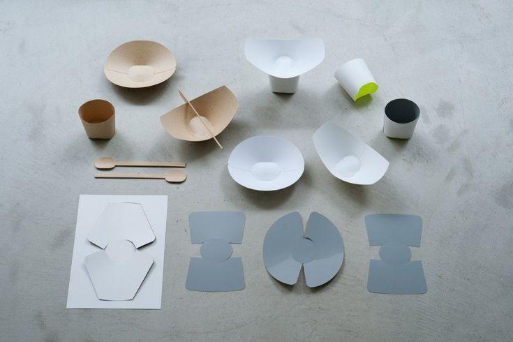 Wallpaperplate & The waribashi spoon for WALLPAPER* Exhibition 2011 magazine, Milan, Disposable tableware | Teruhiro Yanagihara /