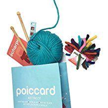 Kit de Tricot pour Adulte Débutant - Pack Conçu pour Tricoter une première Echarpe en Grosse Laine - Aiguilles à tricoter en bois 15mm - Grosse Laine du Pérou Bleu Turquoise