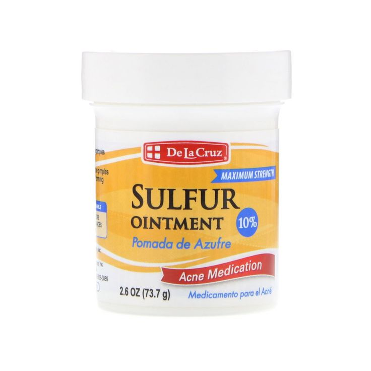 De la cruz sulfur ointment acne medication maximum