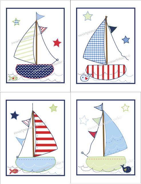 Sailboat Whale Boats Jackson Art Prints Nautical Nursery bedding decor